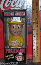 FUNKO NIDDLE NOODLE FIREMAN YELLOW COAT  BOBBLEHEAD LIMITED EDITION