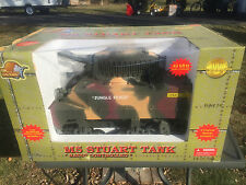 21st CENTURY ULTIMATE SOLDIER WWII RADIO CONTROLLED M5 STUART 1:6 SCALE TANK MIB