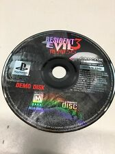Resident Evil 3 Nemesis Demo DISK ONLY (PlayStation 1 PS1) Tested Free US Ship
