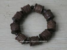 Ancient Chinese carved Wood carving dragon statue Bracelet