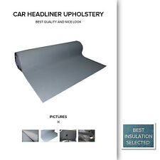 Gray Grey Car Roof Lining Upholstery Headliner OZ Auto Foam Backed 150 x 120CM