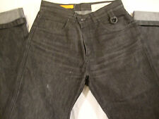 Job Garment Mens Black Jeans Heavy Duty Italy Made 34/48 Mid Rise Cotton Pants