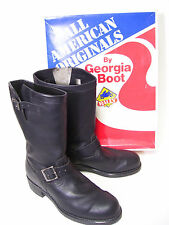 New Vintage Men's Georgia Boot Motorcycle Boots NIB Steel Toe 9E USA