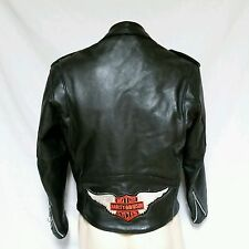 VTG Harley Davidson Leather Jacket 80's Fermin Biker Coat 70's Size 42 Large