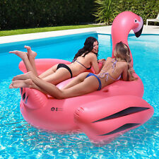 The Floatmingo - Giant Inflatable Pink Flamingo Pool Float - Holds 2+ Adults