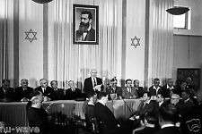1948-David Ben-Gurion publicly pronouncing the Declaration of  State of Israel
