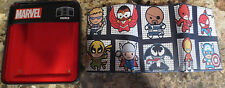 NEW Marvel Comics Tri-Fold Kawaii Multi Character Wallet- New In Tin