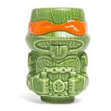 NEW TMNT Mini Geeki Tiki Ceramic Mug Michelangelo Lootcrate Collectible