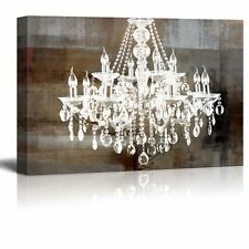 """wall26 - Canvas - Crystal Chandelier on Abstract Vintage Background - 32""""x48"""""""