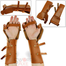 Imperial Paladin Genuine Leather Gauntlets Costume & Armor Gloves