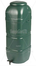 100 LITRE SLIMLINE GARDEN OUTDOOR RAIN WATER TANK STORAGE DRUM BARREL BUTT + TAP