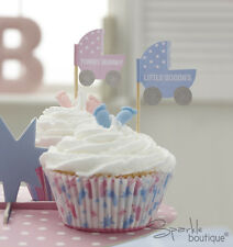 Baby Shower CAKE PICKS-Unisex Cupcake Sticks/Flags-FULL TINY FEET RANGE IN SHOP!