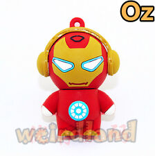 Music Iron Man USB Stick, 8G Quality 3D USB Flash Drives weirdland
