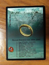 LOTR TCG Promo - The One Ring 4M1 Release Schedule NM/Mint