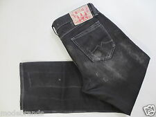 Cult Jeans MUSTANG MICHIGAN relaxed 34 L32  Button Fly black schwarz used /L150