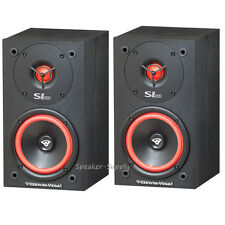 "One Pair Cerwin Vega SL-5M Bookshelf Speakers 5 1/4"" 2-Way Set Theater New LOUD"