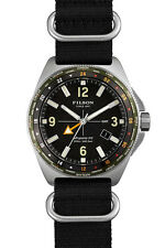 NEW Shinola Filson Mackinaw Field Watch Nylon Black Military SAPPHIRE 43mm