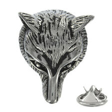3D Fox Head Metal Pin Badge traditional hunter hunting fox hunt AJTP216