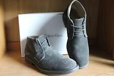 Calvin Klein Phillip Suede Boot Grey Men Size 11.5  FO287