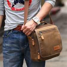 Men Vintage Style Canvas Satchel School Military Shoulder Messenger Bag Travel