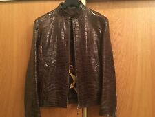 Men's Leather Coat From Crocodile's Skin