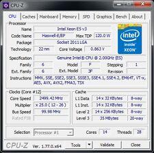 Intel Xeon E5 V3 14C/28T 2,3 - 2,6 GHz Sockel 2011-3 120W Leistung: 6950 6900