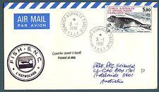 TAAF - 1984 - Fauna antartica - 5,90 su aerogramma (03.01.1991)