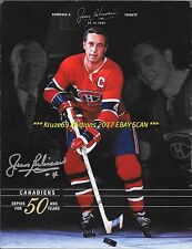 JEAN BELIVEAU 50 YEAR TRIBUTE BOOKLET Auto SIGNED MONTREAL CANADIENS HOF GREAT