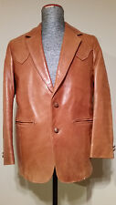 Elegant Cow Boy Country Style Men's Robert Lewis Leather Lambskin Jacket Size 40