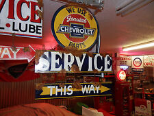 Old antique vintage style Chevy authorized dealer service large 2 piece sign set
