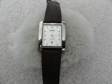 Aspen Quartz Watch - Brown Leather Band - Shows the Date