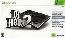 Microsoft XBox 360 Game DJ HERO 2 With TURNTABLE CONTROLLER!