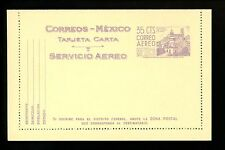 Postal Stationery H&G #FA5 Mexico Airmail postal lettercard 1951 Vintage
