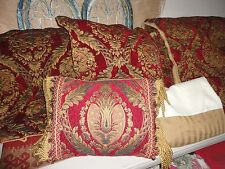 CROSCILL IMPERIAL GOLD RED MEDALLION (5PC) QUEEN COMFORTER SHAMS PILLOW SET