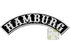 Aufnäher Biker Patch HAMBURG Bogen oben 30cm gestickt, S8, Top Rocker, MC