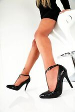 Giaro Zapatos Negro EU37 UK4 4.5 Tacones Altos Sexy Fetiche Con Tiras Pleaser CD arrastre de TV