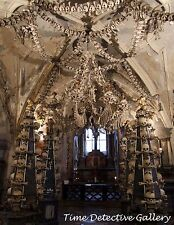 Chandelier of Bones & Skulls, Sedlec Ossuary, Czech Republic -Giclee Photo Print