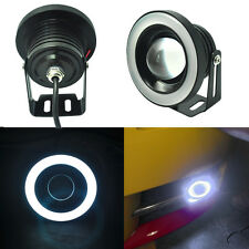 2x 2.5inch 64mm White LED Tube Halo Ring Angel Eye Fog Light Bulbs Projector DRL
