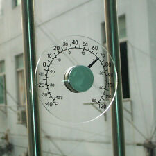 Round Design Stick-on Transparent Plastic Outdoor Window Thermometer