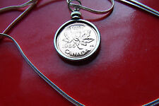 """Exquisite 1986 CANADA MINT PROOF Penny Pendant  on a 30"""" 925 Silver Snake Chain"""