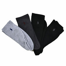 Polo Ralph Lauren Mens Socks Four Pack Crew Embroidered Pony Logo New
