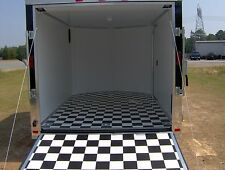 enclosed cargo motorcycle 2 bike trailer 7x10 finished ramp and side door NEW