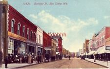 BARSTOW ST., EAU CLAIRE, WI. 1915 F.W. Woolworth Co. 5 and 10 Cent Store