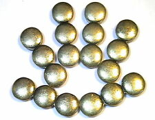 6 - 2 HOLE SLIDER OR SPACER BEADS ANTIQUED BRASS PLATED TRIPLE CIRCLE