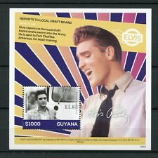 Guyana 2016 MNH Elvis Presley His Life in Stamps Army Draft Board 1v S/S I