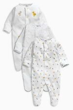 ВNWT NEXT Baby Playsuits Outfit • White Duck Sleepsuits 3pk • Cotton • 0-3 Month