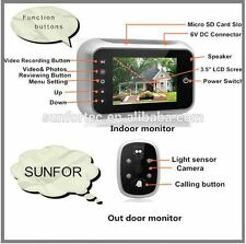 3.5'' LCD Screen Digital Doorbell Peephole Viewer Security Camera