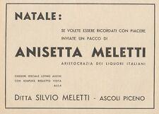 Z1191 ANISETTA MELETTI - Ascoli Piceno - Pubblicità d'epoca - 1933 Old advert