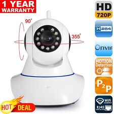 Onvif 720P Wireless HD IP Camera Wifi 1.0MP H.264 P2P Pan Tilt CCTV With SD Slot