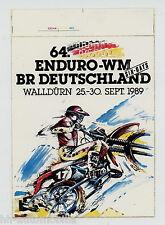 Aufkleber Six Days 64. Enduro-WM Walldürn 1989 Deutschland sticker autocollant